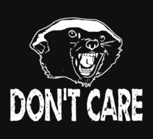Honey Badger Don't Care white by AngryMongo