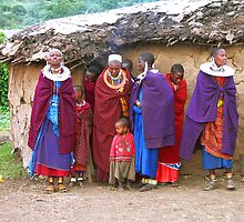 Maasai (Masai) Women & Children of Kenya & Tanzania by Carole-Anne
