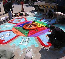 honouring life, streetside. kathmandu, nepal by tim buckley | bodhiimages