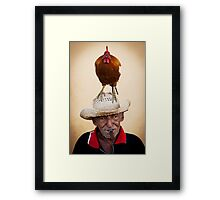 The chicken man Framed Print