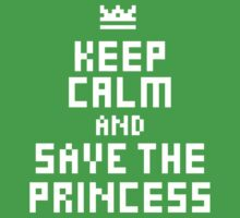 Keep Calm and Save the Princess Kids Clothes