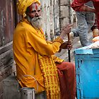 Old Man in Yellow by Sati