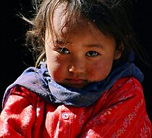 tribal girl. spiti valley, northern india by tim buckley   bodhiimages