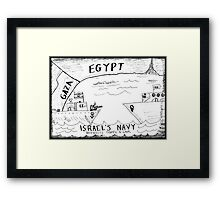 Traffic Safety at Sea Framed Print