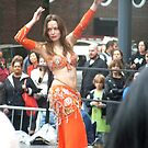 Belly Dancer in Orange by Bernadette Claffey