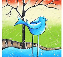 Bluebird  Whimsical Folk Art by hjmart