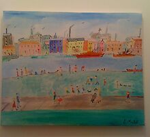 a lovely day by the docks by lisa martin