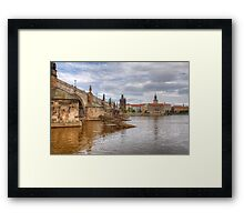 St Charles Bridge - Prague Framed Print
