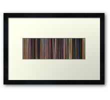 Moviebarcode: Toy Story Trilogy (1995-2010) Framed Print
