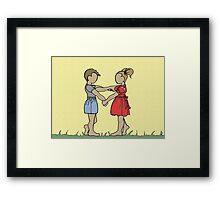 Lonny and Sprocket Framed Print