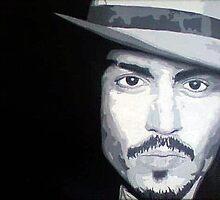 Johnny Depp portrait by Kevin Stewart