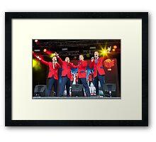 The Cast Of Jersey Boys (London) Framed Print