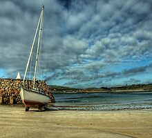 A Yacht on Braye Beach by NeilAlderney