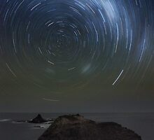 Pyramid Rock Startrails by Alex Cherney