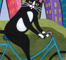 Bicycle Cat Sticker