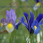 Iris Duo  by Sally J Hunter