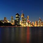 Brisbane City at Blue Hour  by Tim Harper