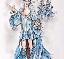 Christian in Blue or Cristiano Azul by Jill Bennett