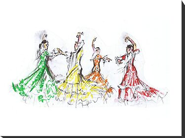 Flamenco in Colour or Flamenco en Color by Jill Bennett