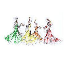 Flamenco in Colour or Flamenco en Color Photographic Print