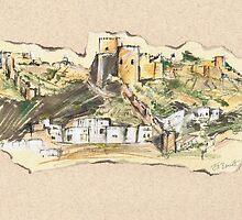 Almería Castle or Alcazaba de Almería by Jill Bennett
