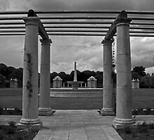 Columns at the War Memorial Gardens by Esther  Moliné