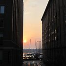 Sunset over the Hudson River from the Highline... by Patricia127