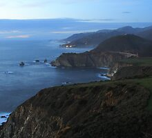 Bixby at Dusk - Big Sur Coast by ChrisHarrell