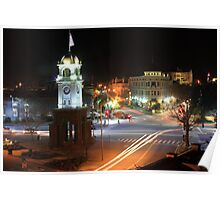 Cock Tower Intersection - Downtown Santa Cruz Poster