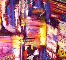 Light Reflections On Rainy Night by Narani Henson