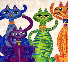 'High Street Cats' - a little bit Posh! (larger version) by Lisa Frances Judd~QuirkyHappyArt