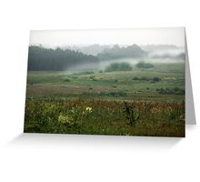 Fog layers in early morning Greeting Card