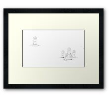 Thumbody's Missing Framed Print