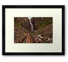 Walkway to Njupeskär Waterfall Framed Print