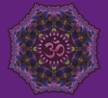 Pink Purple Aum Om Geometry by webgrrl