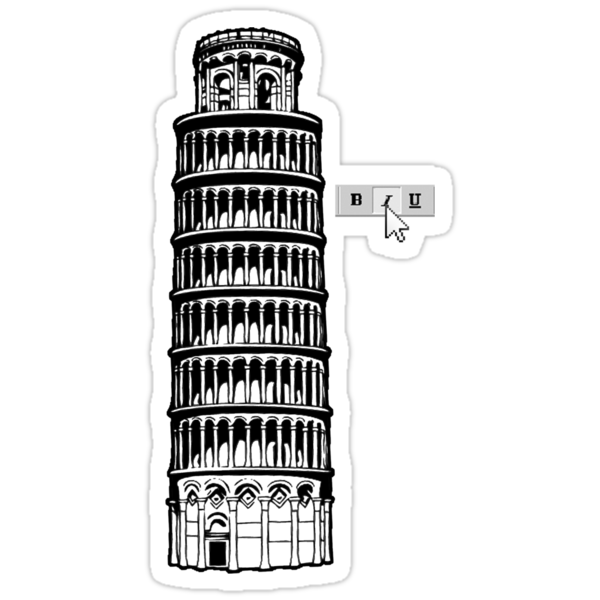 The Leaning Tower of Pisa: Explained by gagman