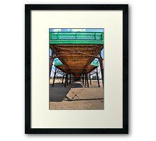 What Lies Beneath - St Annes Pier Lytham Framed Print