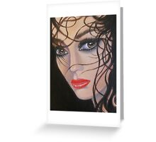LADY IN THOUGHT Greeting Card