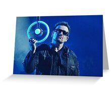 Bono looking at you. Greeting Card