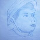 THIS IS A SKETCH OF MY WIFE WHEN SHE WAS LITTLE  by TSykes
