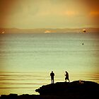 Rock fishing sunset.... Redcliffe Peninusla by John Kennedy