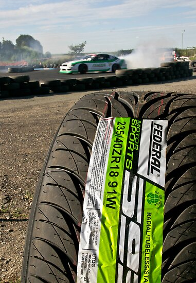 Federal tyres........ THE only tire for drifters... by John Kennedy