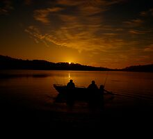 Wetting A Line - Narrabeen Lakes,Sydney Australia - The HDR Experience by Philip Johnson