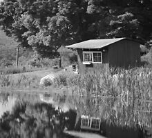 Boat House on the Pond by Sara Thorne