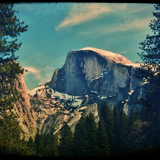 Half Dome - Yosemite National Park - Vintage by Matthew Floyd