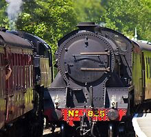 Two Passing Steam Engines by Paul Collin