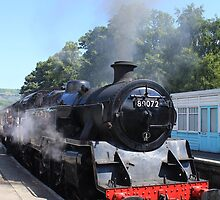 Steam Engine preparing to depart station by Paul Collin