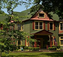 Painted Lady Victorian House by Sheryl Gerhard