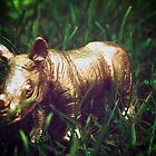 Golden Rhino In The Wild by ChrisPerch