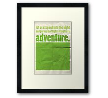 "Dumbledore ""adventure..."" Framed Print"
